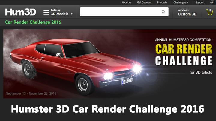 Car rendering challenge humster 3d car render challenge 2016 for 3d rendering online
