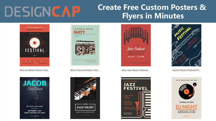 Designcap Free Online Software To Create High Quality Posters And Flyers